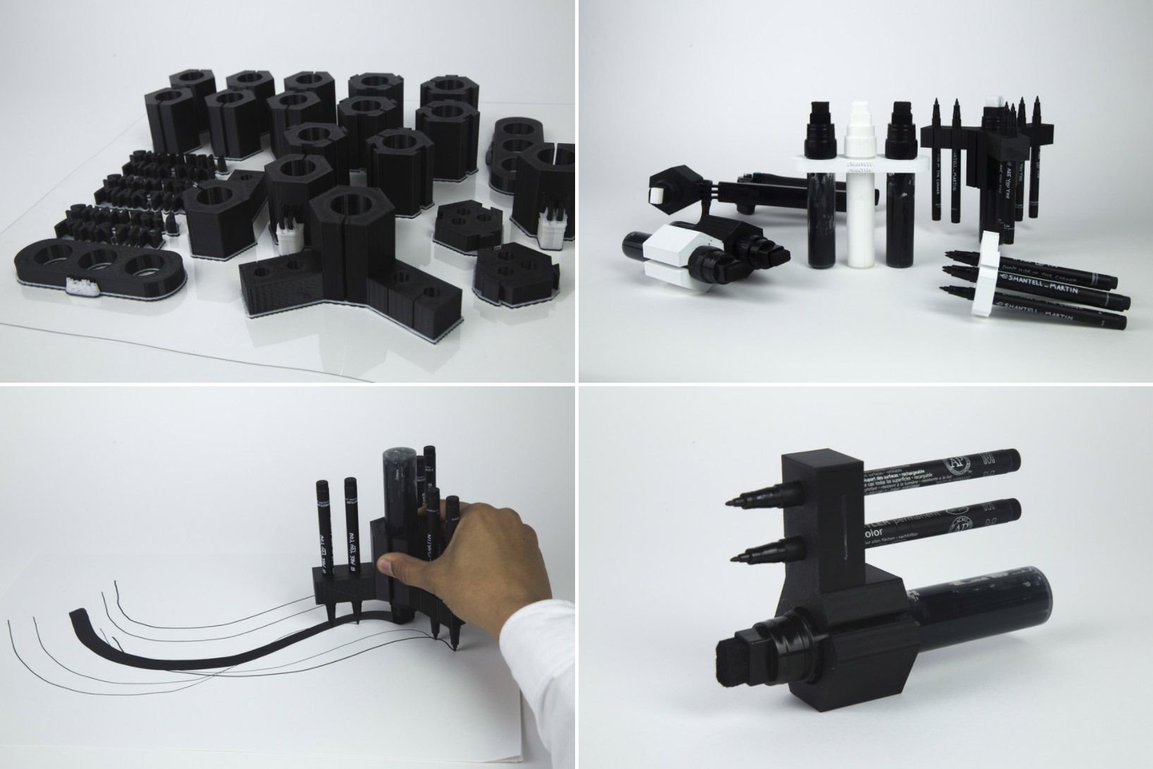 3D Printed Drawing Tools by Shantell Martin