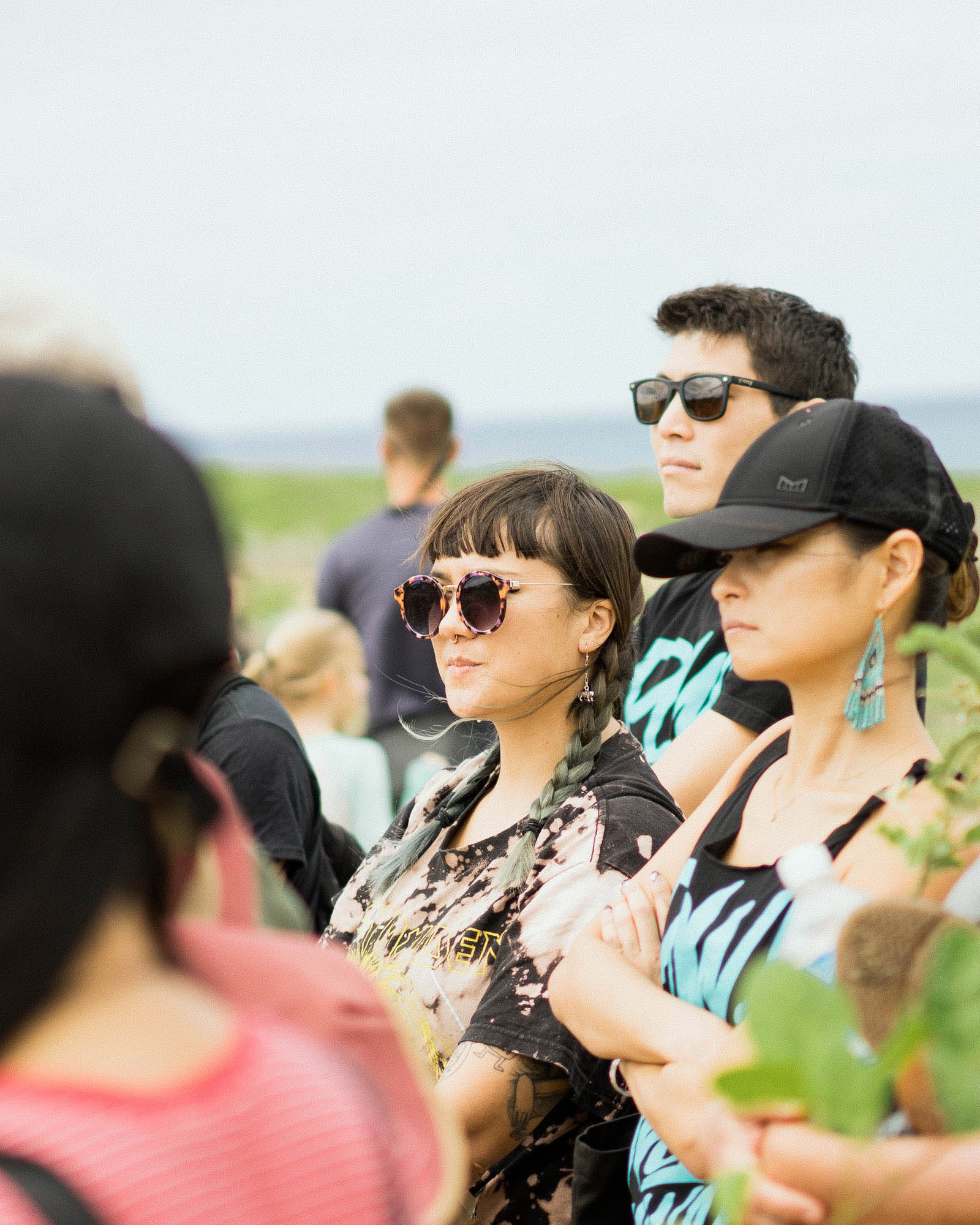 Artist Lauren YS learns about the Albatross birds in the area.