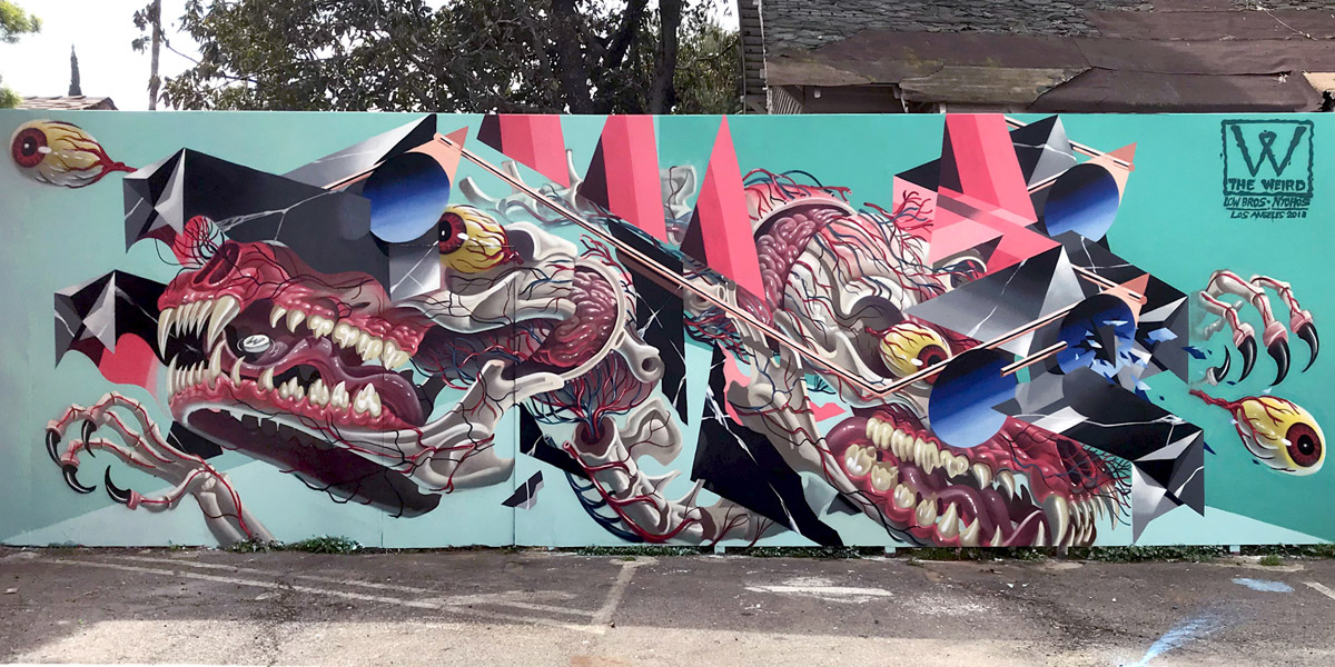 2272 Venice Blvd. Los Angeles — collab wall with Nychos