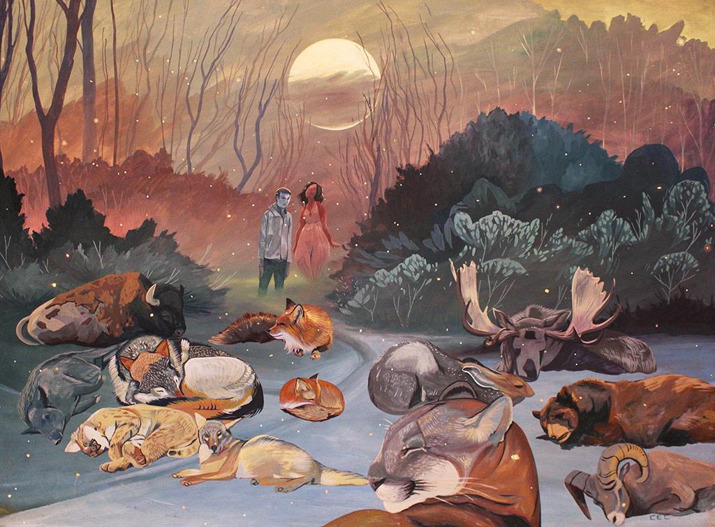 Sleeping Animals art print by Casey Landerkin