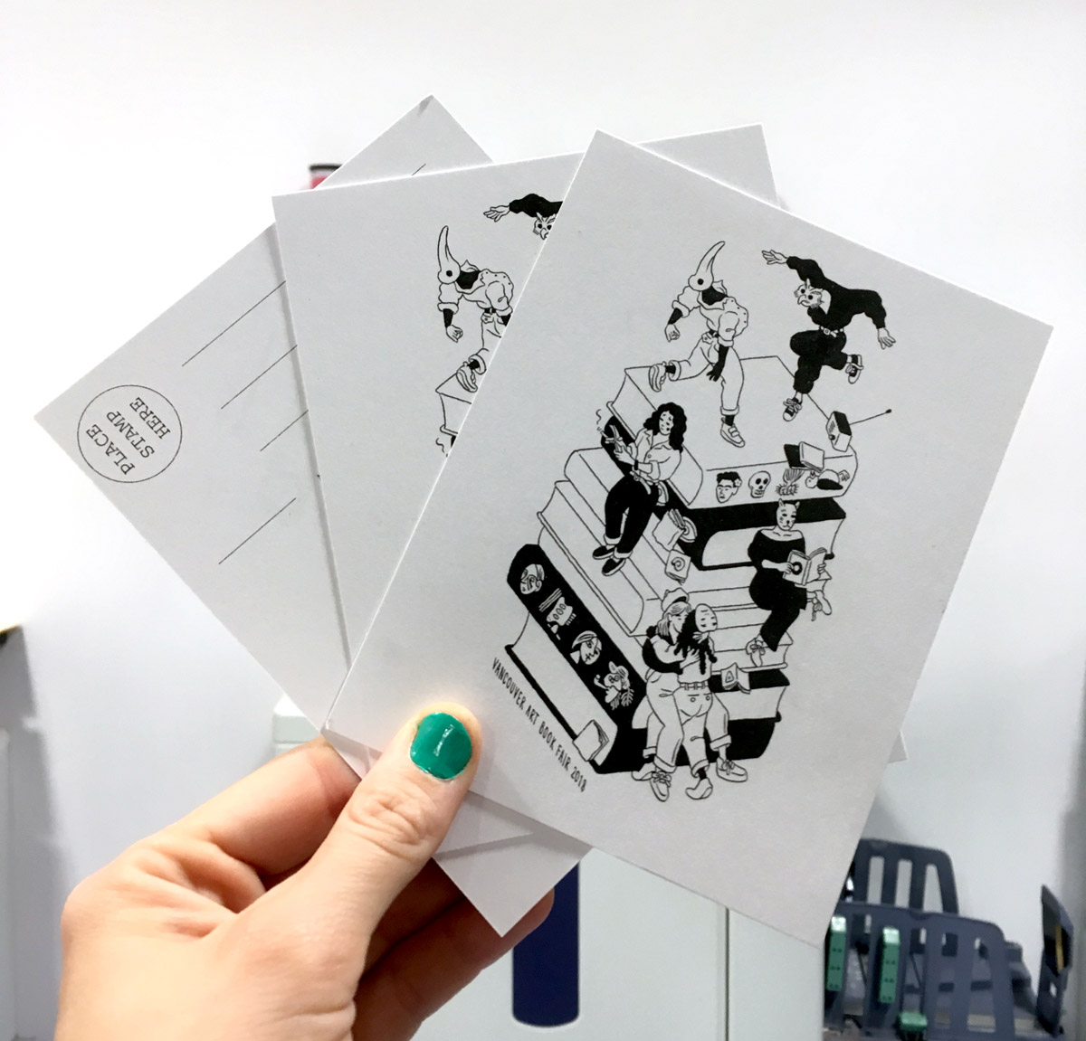 Vancouver Art Book Fair 2018 Postcards designed by Ilya Milstein
