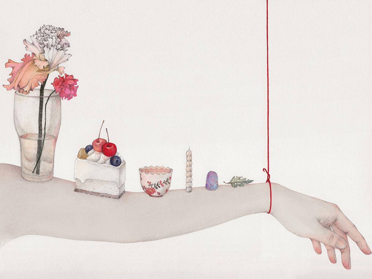 Vicki Ling, 'Hanging by a string'
